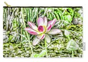 Lotus Flower Bloom In Pink 2 Carry-all Pouch