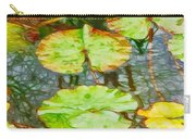 Lotus Flowers Leaves Carry-all Pouch