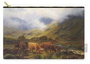 Louis Bosworth Hurt British 1856 - 1929 Highland Cattle Carry-all Pouch