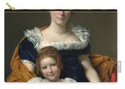Louis David   Portrait Of The Comtesse Vilain Xiiii And Her Daughter Carry-all Pouch