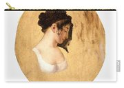 Louis-leopold Boilly - Profile Of A Young Womans Head Carry-all Pouch