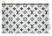 Louis Vuitton Pattern Lv 07 Grey Carry-all Pouch