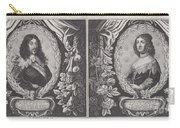Louis Xiii And Anna D'austriche Carry-all Pouch