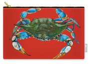 Louisiana Blue On Red Carry-all Pouch