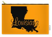 Louisiana In Black Carry-all Pouch