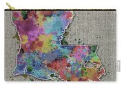 Louisiana Map Color Splatter 5 Carry-all Pouch