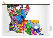 Louisiana Map - Mardi Gras Carry-all Pouch