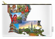 Louisiana Map - New Orleans Carry-all Pouch