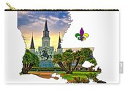 Louisiana Map - St Louis Cathedral Carry-all Pouch