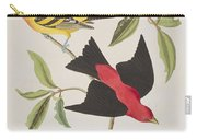 Louisiana Tanager Or Scarlet Tanager  Carry-all Pouch