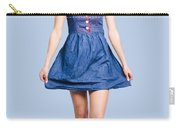 Lovable Eighties Female Pin-up In Denim Dress Carry-all Pouch