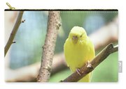 Lovable Little Budgie Parakeet Living In Nature Carry-all Pouch