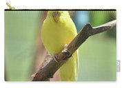 Lovable Yellow Budgie Parakeet Bird Up Close Carry-all Pouch
