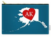 Love Alaska White Carry-all Pouch