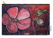 Love And Live With Purpose Poppies Carry-all Pouch