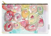 Love And Roses- Art By Linda Woods Carry-all Pouch