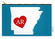 Love Arkansas White Carry-all Pouch