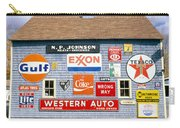 Love Barn With Road Signs, Orland, Maine Carry-all Pouch