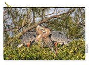 Love Birds - Great Blue Heron Carry-all Pouch