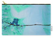Love Birds In Blue Maternity Carry-all Pouch
