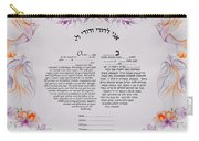 Love Birds Ketubah-reformed Humanitic Version Carry-all Pouch