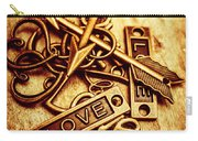 Love Charms In Romantic Signs And Symbols Carry-all Pouch