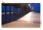 Love Heart In The Sand At Boscombe Pier Carry-all Pouch