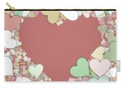 Love Heart Valentine Shape Carry-all Pouch