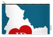 Love Idaho White Carry-all Pouch