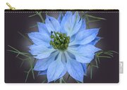 Love In A Mist Black With Light Carry-all Pouch
