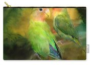 Love In The Golden Mist Carry-all Pouch by Carol Cavalaris