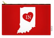 Love Indiana White Carry-all Pouch