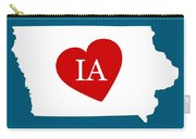Love Iowa White Carry-all Pouch