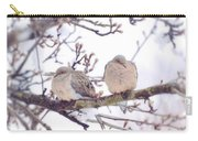 Love Is In The Air - Mourning Dove Couple Carry-all Pouch