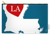 Love Louisiana White Carry-all Pouch