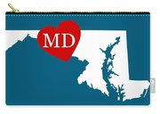 Love Maryland White Carry-all Pouch