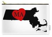 Love Massachusetts Black Carry-all Pouch
