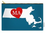 Love Massachusetts White Carry-all Pouch