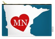 Love Minnesota White Carry-all Pouch
