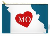 Love Missouri White Carry-all Pouch