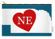 Love Nebraska White Carry-all Pouch