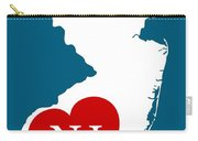 Love New Jersey White Carry-all Pouch