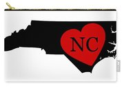 Love North Carolina Black Carry-all Pouch