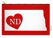 Love North Dakota White Carry-all Pouch