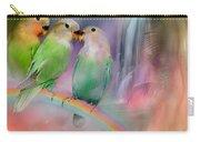 Love On A Rainbow Carry-all Pouch by Carol Cavalaris