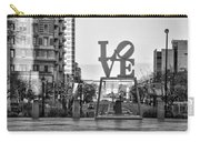 Love On The Parkway In Black And White Carry-all Pouch