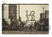 Love On The Parkway In Sepia Carry-all Pouch