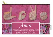 Love One Another Spanish Carry-all Pouch