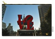 Love Park In Philadelphia Carry-all Pouch by Bill Cannon