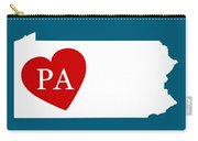 Love Pennsylvania White Carry-all Pouch